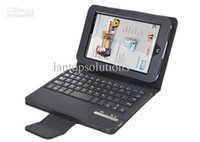 7'' For Apple For Ipad 2/3 Wholesale - Removable Wireless Bluetooth Keyboard Leather Case for Barnes Noble Nook HD 7 Free Shipping