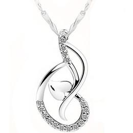 Wholesale Love Dance zirconium diamond pendant necklace set