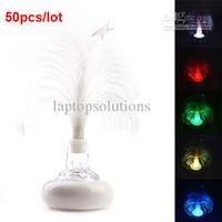 Christmas Tree No No Wholesale - Hot Sale USB Multi Color Changing Christmas Tree LED Light for Laptop 50pcs lot