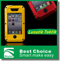 Wholesale For Iphone ip5 S S Lunatik Taktik Pieces Extreme Durable Strike Shockproof Waterproof Dustproof Metal Case Cover Protector Retail BOX
