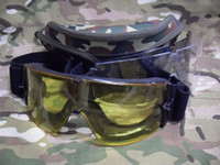 Yellow ski goggles glasses - package mail X800 tactical desert locusts goggles ski goggles cycling glasses three color optional