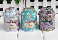 Wholesale Children s stationery Vintage style flower series tea box Cut tin box storage case organizer Iron case storage container