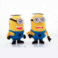 amplifier home sound - Despicable Me Cute Minions Portable Mini HIFI Loud Speaker MP3 Player Amplifier Micro SD TF Card USB Disk Computer Speakers DHL Free