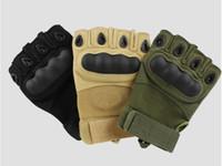 Wholesale new sale shells tactical gloves half finger bicycle gloves grip bike gloves outdoor riding gloves color
