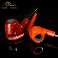 Wood Bent Type  Smoking pipe briar handmade tobacco smoking pipe smoking set 8 piece set a stone 858