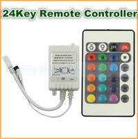 Wholesale 24 Key IR Remote Controller DC V For LED RGB Light Strip