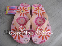 Girls Summer Floral 2013 Summer children slippers family series fashion child sandals herringbone shoes girls kids