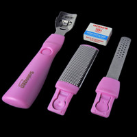 Wholesale Nail Art Soak Off Corn Callus Remover with Cutter Foot Rasp Double Edge Blades Manicure Kit