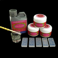 No acrylic liquid - 5 x D Mold ml Jumbo Size Acrylic Liquid White Pink Clear Powder Brush Glass Dappen Dish Kits Set N058