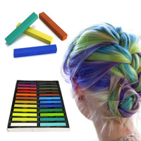 Wholesale 24 Colors short hair Fashion Hot Fast Non toxic Temporary Hair Chalk Dye Soft Pastel DIY mix color