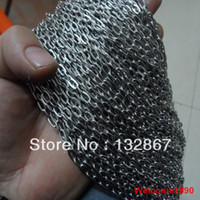 Wholesale Free sihp meters in bulk Jewelry Finding Chain Stainless Steel mm Oval link Chain DIY Necklace Bracelet