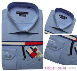 Wholesale 2014 Brand shirt men fashion slim fit shirts cotton long sleeve casual T0mmiy shirt quality guaranteed