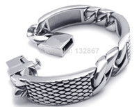 Wholesale Men s Gifts Jewelry L Stainless steel Cuban Style Bracelet Bangle mm