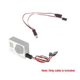Usb gopro en venta-USB de AV a la Salida de Vídeo amp; 5V DC BEC Cable de Entrada del FPV para la Gopro Hero 3
