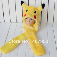 Wholesale Cartoon Animal Hat Cute Pikachu Hat Plush Winter Warm Earmuff Party Cap Hat
