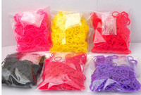 8-11 Years Multicolor Silicone Fashion DIY Rainbow Loom Refill Bands Rainbow Loom Bracelet for kids (600 pcs bands + 24 pcs S-clips ) in each bag DHL Free Chritmas Gift