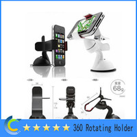 Universal   360 Degree Rotating Car Windshield Cradle Holder Mount for Samsung galaxy S4 S5 iphone 4S 5 5C 5S HTC HuaWei Mobile phone universal holder