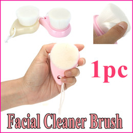 Wholesale New Arrival Soft Face Cleansing Brush Facial Deep Wash Cleaning Makeup Removal Skin Pore Cleanser Care Beige Pink