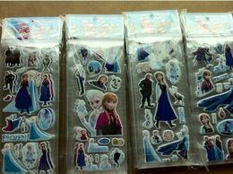 Wholesale Hot selling frozen designer Esla amp Anna Princess sticker doll stickers kids factory price retail wholesales