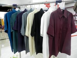 Male silk shirts, 100% mulberry silk men shirt,solid color short-sleeve silk shirt men