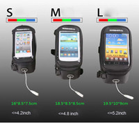 Wholesale Promotion Bike Bicycle Pouch Waterproof Frame Pannier Bag Front Tube Case For GPS Touch Screen Cell Phone