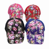 Wholesale Multi color Hot style Flower Mesh cap adjustable sport Stingy Brim Sun Hats EEH