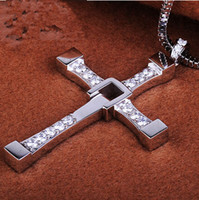 Pendant Necklaces South American Unisex FAST and FURIOUS Dominic Toretto's Cross Pendant Necklace Titanium Steel necklaces pendants Free With Chain fashion jewellery jewelry cheap