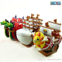 Multicolor PVC Key Wholesale - -EMS Hot sale Brand New 3 Styles One Piece Figures Pirate Ship Piggy Bank Money Box Free Shipping 11cm