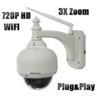 Wholesale Vstarcam T7833WIP X3 Outdoor PTZ X Zoom P2P Plug and Play Pan Tilt Wireless WiFi P IP Camera Security Micro SD Card