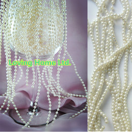 66 Feet 20M 4mm Ivory Wedding Cake Christmas Party Centerpiece String Favor Craft Decor Beige Pearl Strands Garland Spool Bridal Beads