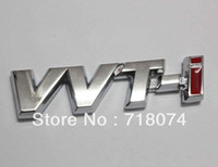 Emblems Metal Toyota Free shipping Car rear chrome Decal Emblem Sticker auto 3D Logo badge toyota vvt-i vvti Racing motorbike parts fashion style
