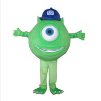 Wholesale Mike Wazowski Mascot Costume Helmet And Mini Fan