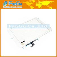 For Apple For ipad 5 Capacitance New Touch Screen Digitizer Glass Panel with 3M adhesive assembly For iPad 5 iPad Air