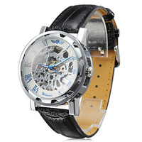 Wholesale Hot High Quality Fashion Men s Auto Mechanical Hollow Engrawing Casual watches on Sales
