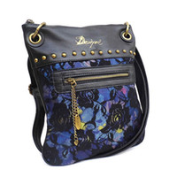 womens wholesale handbags - womens Desigual bag fashion Lace Embroidery shoulder bag Messenger Bag PU handbag