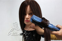 mannequin heads - Real Human Hair Salon Hairdressing Training Head Mannequin
