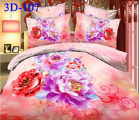 Cheap Polyester / Cotton 3d bedding Best Knitted Home peach blossom bed cover