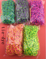 8-11 Years Multicolor Silicone Glitter tie dye glow in the dark Metal Rainbow Loom Kit DIY Rainbow Loom Bracelet for kids (300 pcs bands + 12 pcs C-clips + 1 hook )