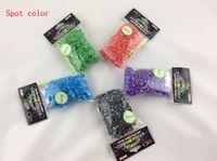 8-11 Years Multicolor Silicone Glitter tie dye glow in the dark Metal Rainbow Loom Kit DIY Rainbow Loom Bracelet for kids (300 pcs bands + 12pcs C-clips + 1 hook ) 1000pcs