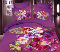 Cheap Polyester / Cotton noble flower bedding sets Best Knitted Home 3d black oil painting