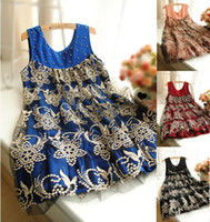 Wholesale maternity clothing bronzier patchwork lace pleated tank dress clothes for pregnant women high quality
