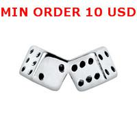 Charms for locket mixed Silver dice Glass Floating charms for memory living locket wholesale