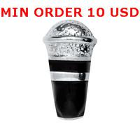 Charms for locket mixed MICROPHONE Glass Floating charms for memory living locket wholesale