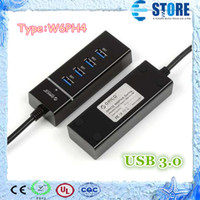 Wholesale W6PH4 Portable Port USB Hub Super Speed Gbps for Windows XP Vista Mac MacBook Air Windows Tablet PC With LED Indicators M