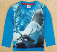 2014 new Cartoon frozen children t shirts kids t- shirts cool...