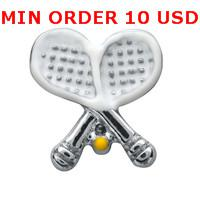 Charms for locket mixed SILVER TENNIS Glass Floating charms for memory living locket wholesale