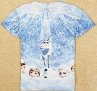 2014 new fashion Frozen Olaf 3D printed children girls t shi...