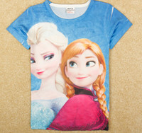 2014 Hot fashion Frozen Anna & Elsa 3D printed children ...
