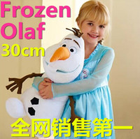 achat en gros de peluche bande dessinée gros-Vente en gros- Hot Sale Dernières Brinquedos Frozen 30cm Olaf Peluche Peluches Movie Dolls Stuffed Toy Dolls