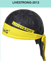 Unisex cycling hat - New Arrival Pirates scarf Cycling Bandanna CLASSIC LIVESTRONG BLACK headsweats dress hat cycling head wear cap sweat absorber